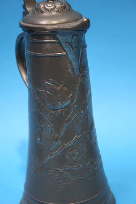 Lot 28 - Two German Pewter Steins and a pottery Stein
