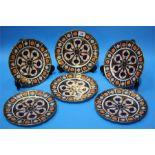 A set of six Royal Crown Derby Imari pattern plate