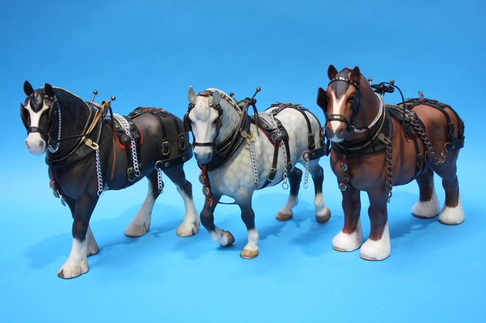 Lot 40 - 3 Beswick Shire horses