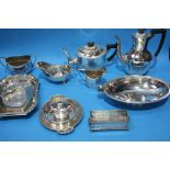 A collection of silver plated wares