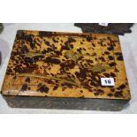 Oriental tortoiseshell style box