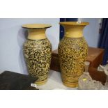 Near pair of vases