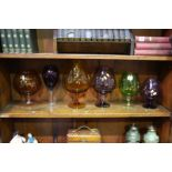 6 Glass vases