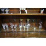 Assorted glassware, including Dartington etc.