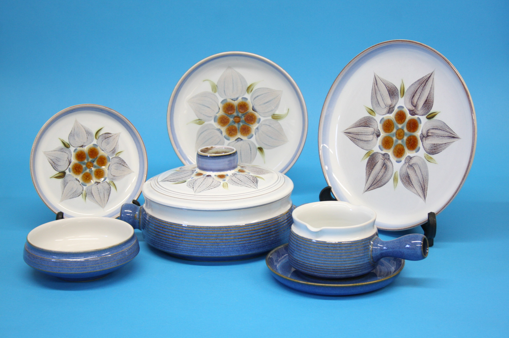 A Denby Chatsworth dinner service, comprising two