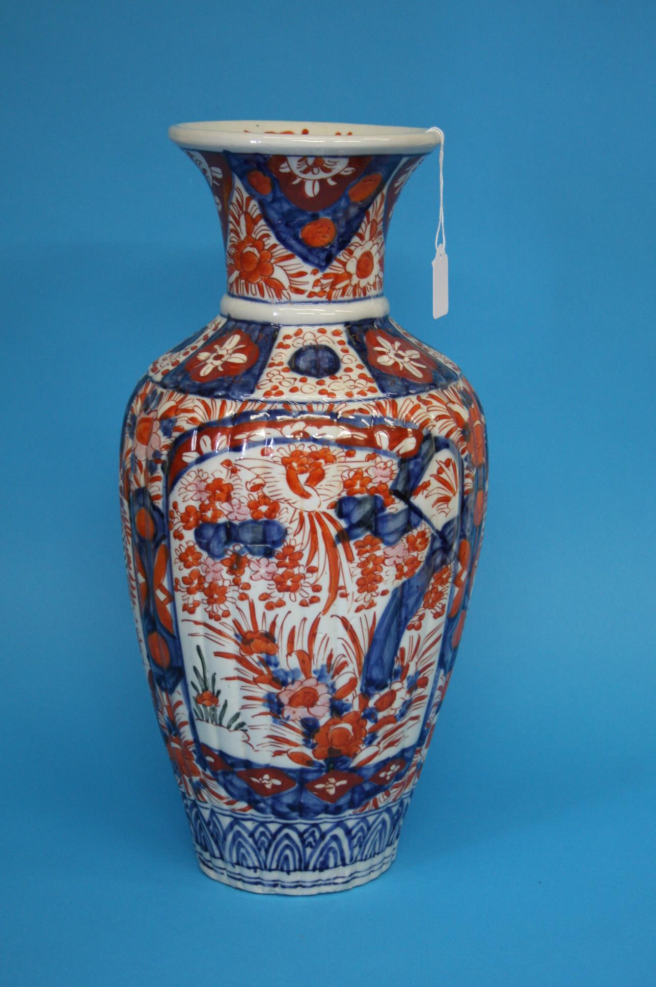 A Japanese Imari vase, with waisted neck, 46cm hei