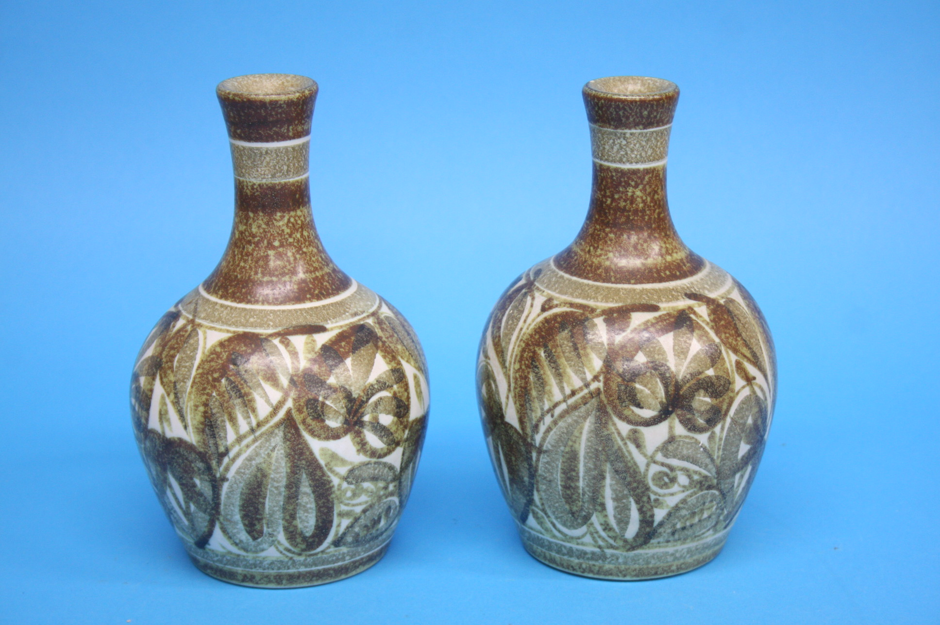 A pair of Bourne Denby 'Glyn Colledge' stoneware v