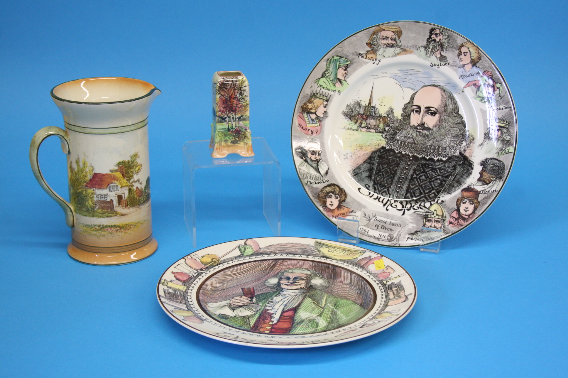 Two Royal Doulton plates 'The Squire' and 'Shakesp