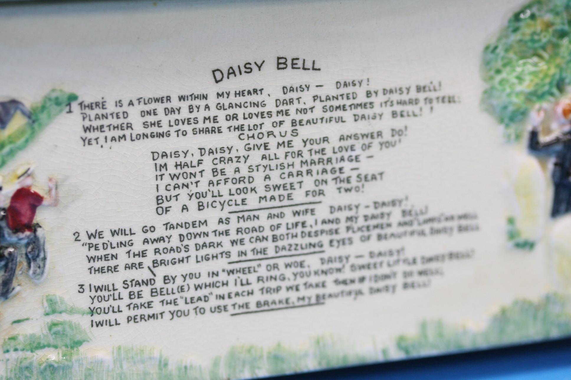 A Crown Devon 'Daisy Bell' musical box, 21cm lengt - Image 2 of 3
