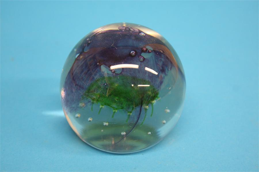 A boxed Caithness 'Sea Kelp' paperweight, limited