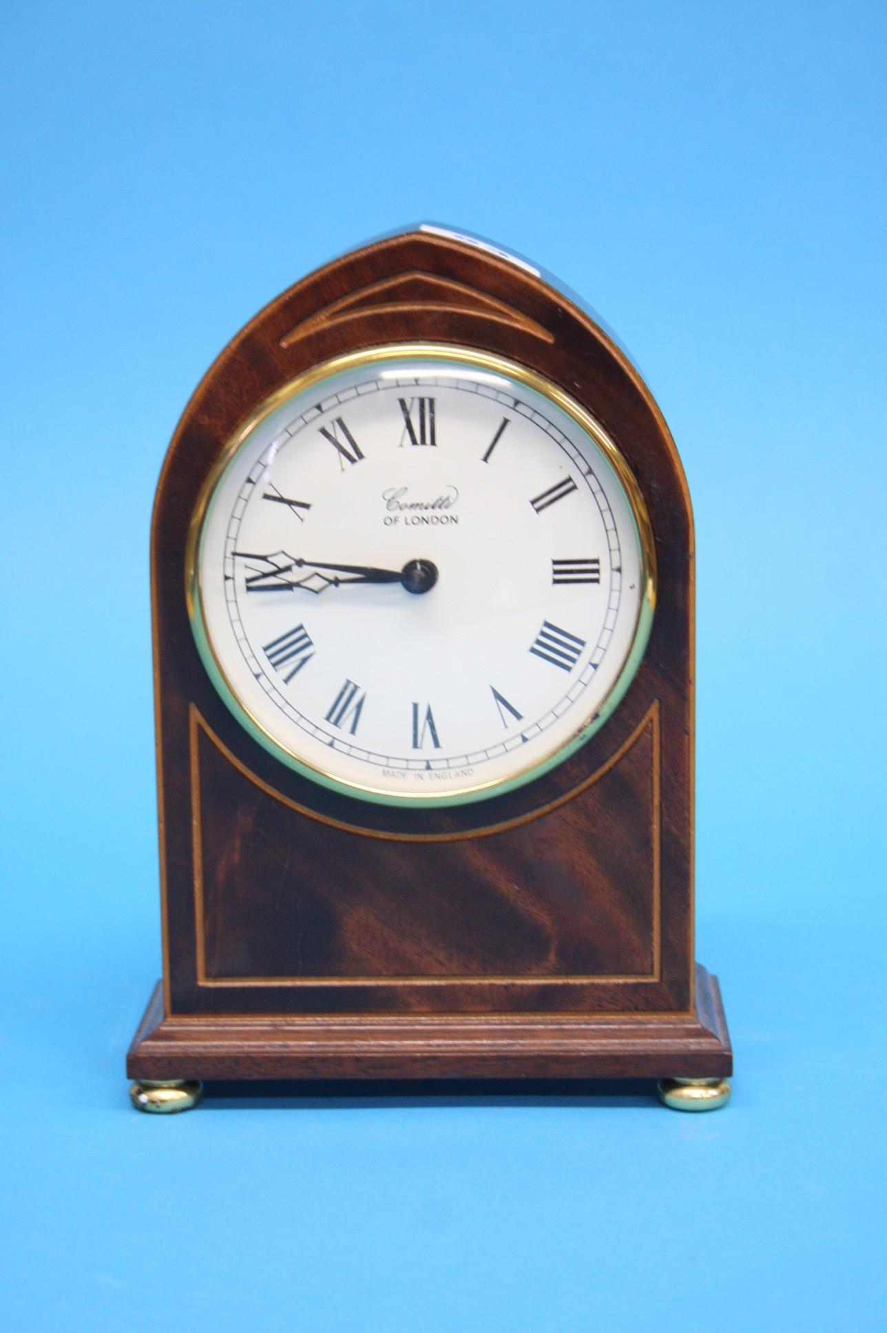 A Comitti of London mantel clock (battery operated