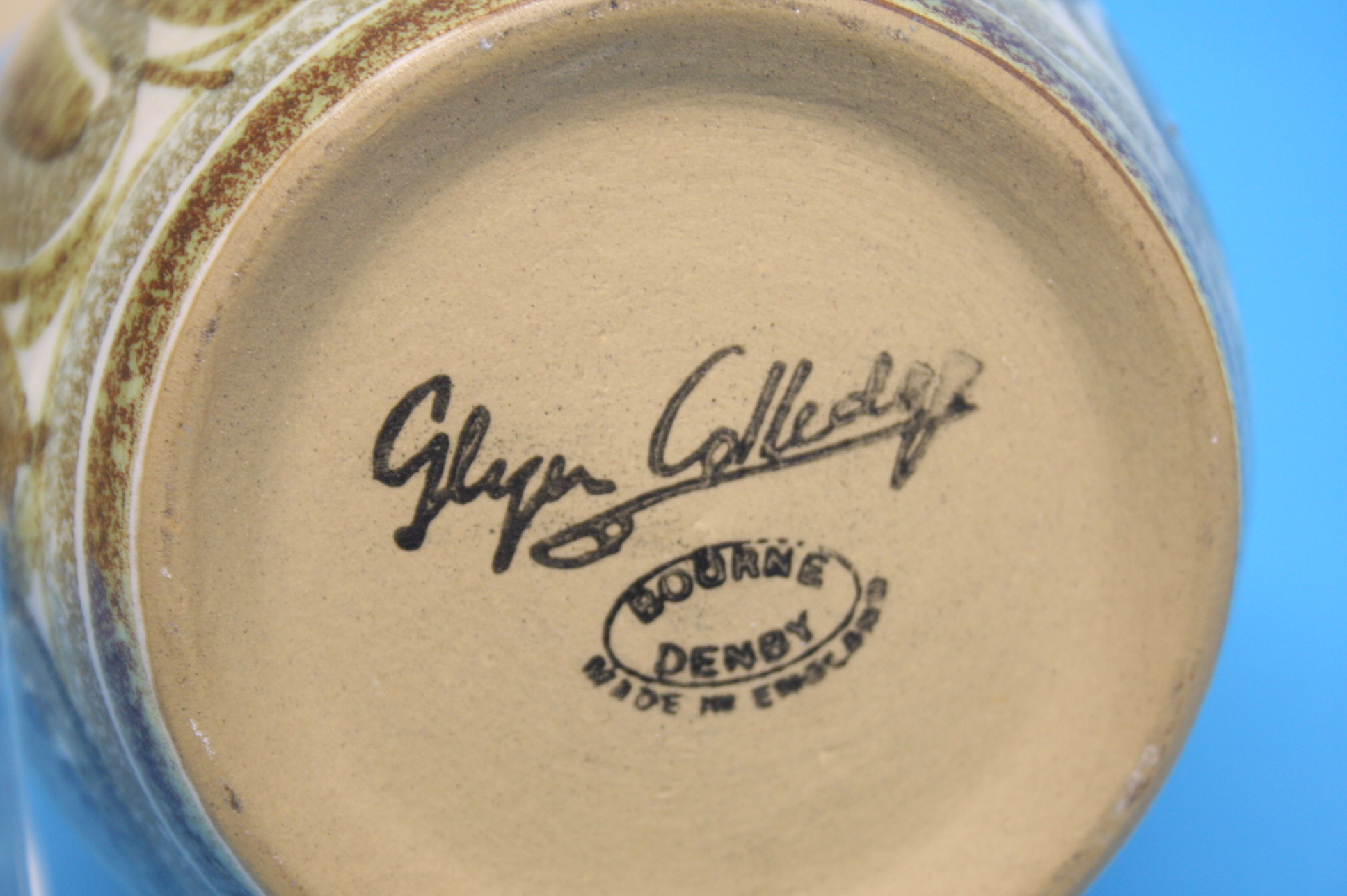 A pair of Bourne Denby 'Glyn Colledge' stoneware v - Image 2 of 2