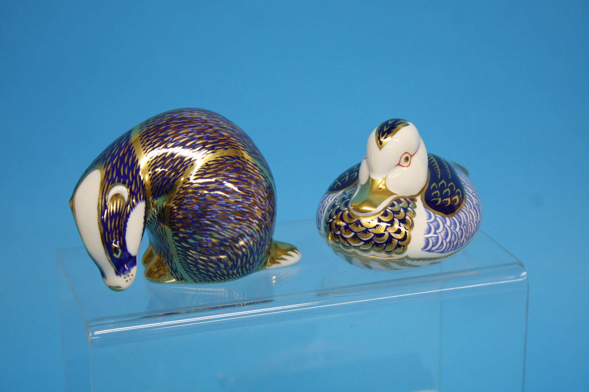 A collection of five Royal Crown Derby paperweight - Image 3 of 4