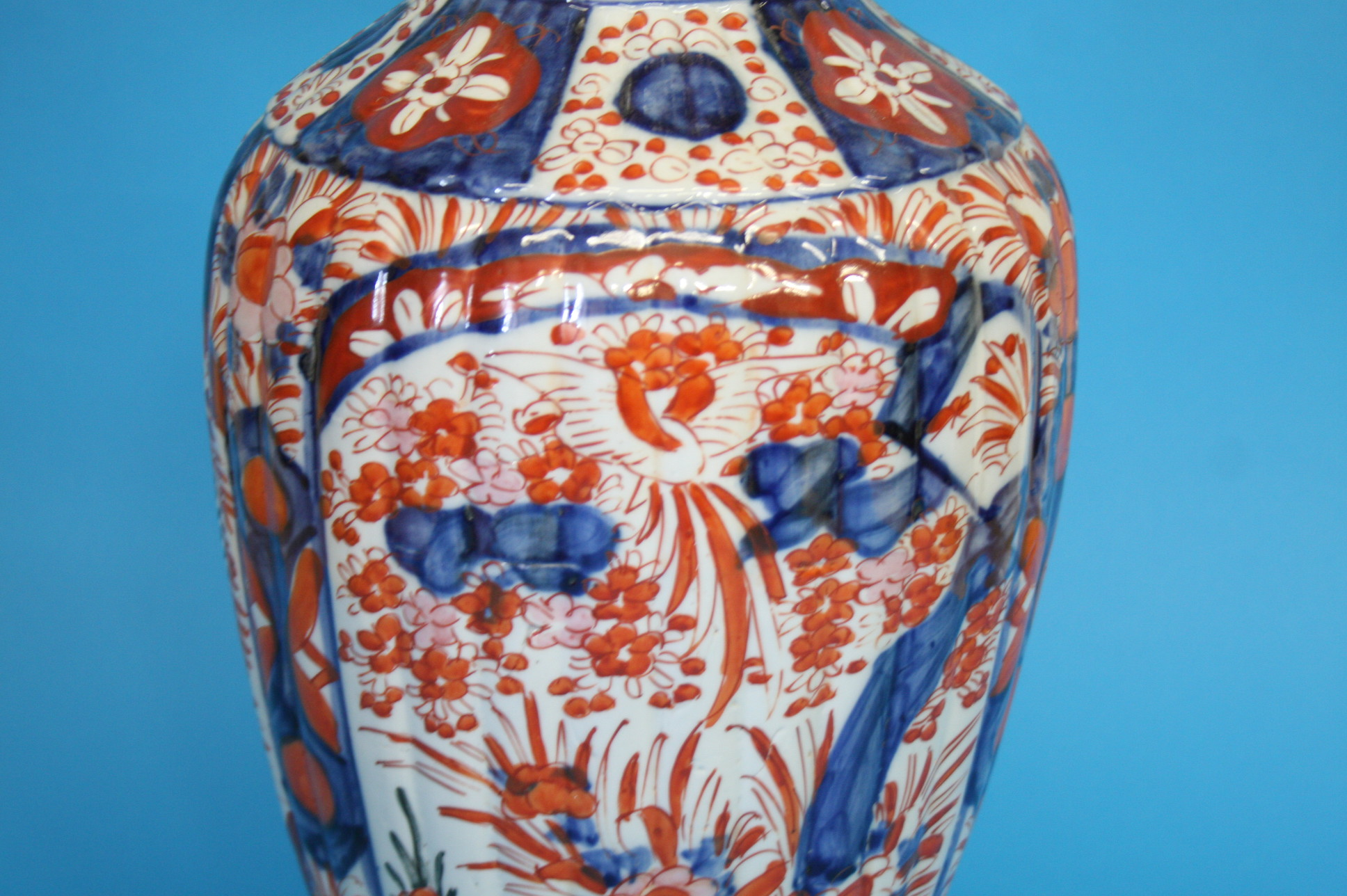 A Japanese Imari vase, with waisted neck, 46cm hei - Image 2 of 2