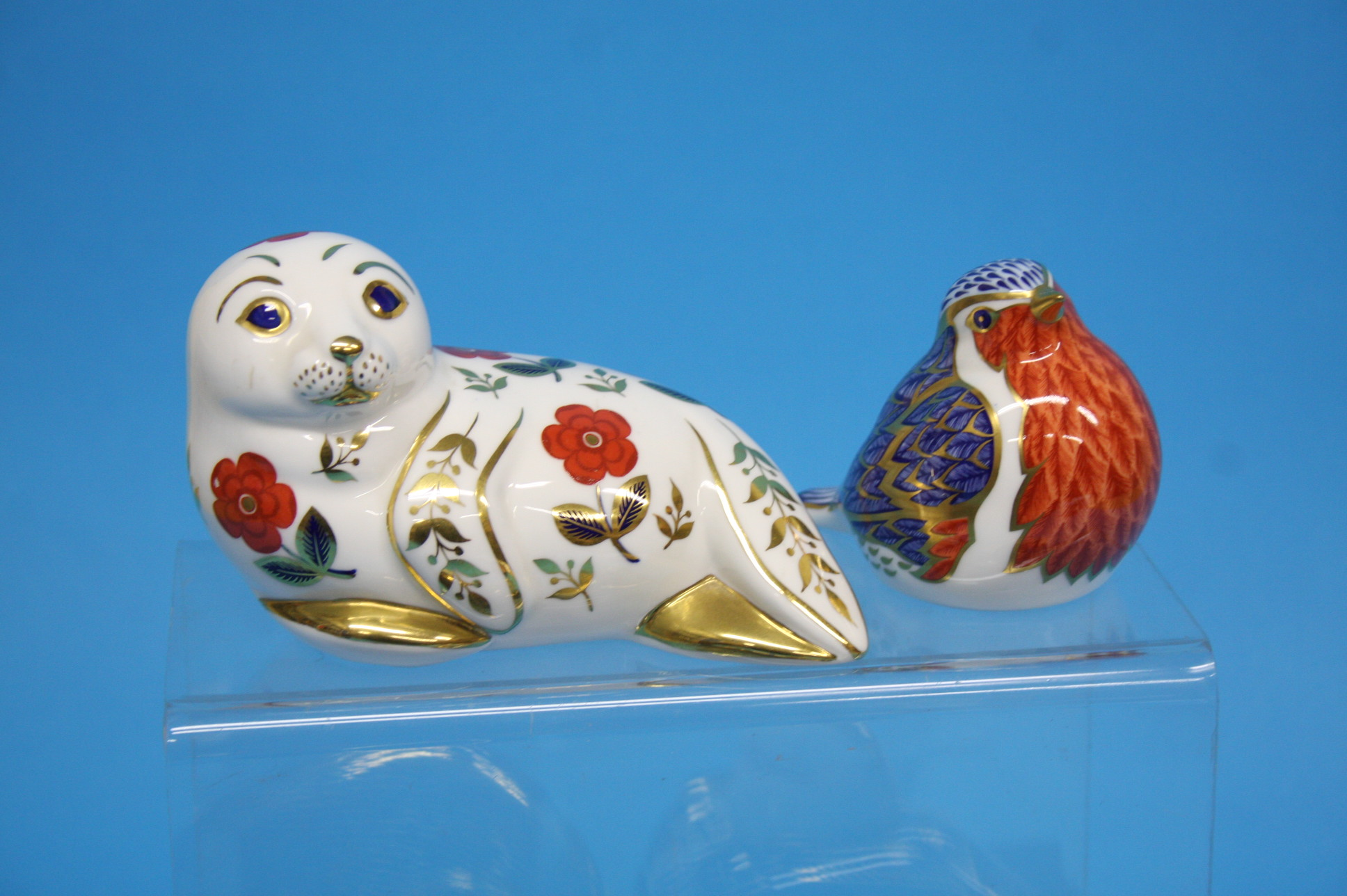 A collection of five Royal Crown Derby paperweight - Image 2 of 4