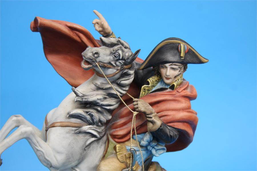 A Capodimonte group of Napoleon on a rearing horse - Image 2 of 3