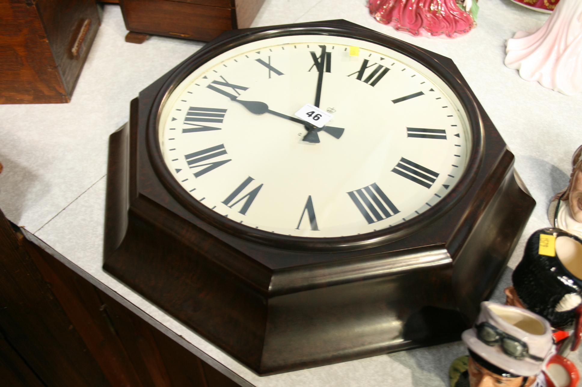 Lot 46 - Octagonal GPO Bakelite wall clock