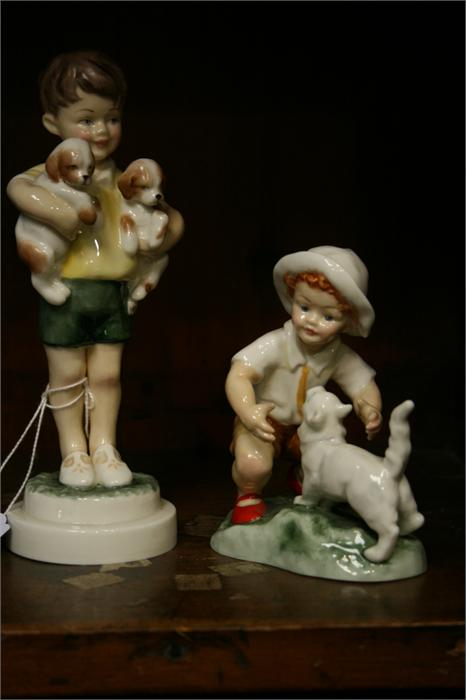 Lot 29 - Royal Worcester figure 'All Mine' and 'Snowy' (2)