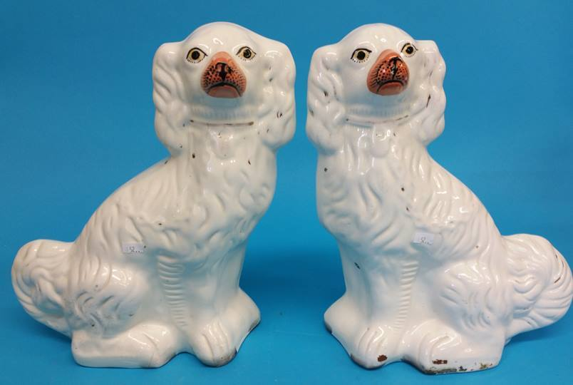 Lot 52 - A pair of Staffordshire spaniels