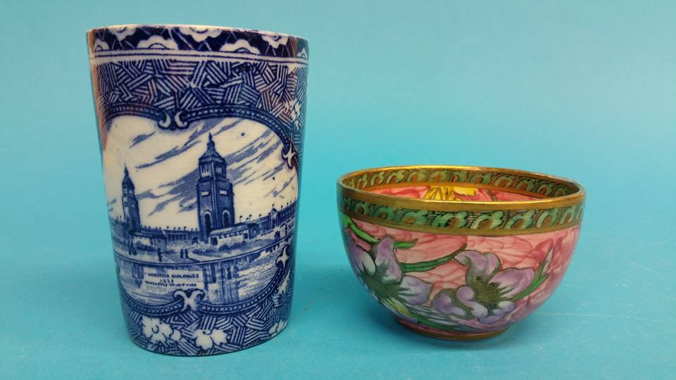 Lot 13 - A Maling N.E Coast 1929 Exhibition beaker and a sm