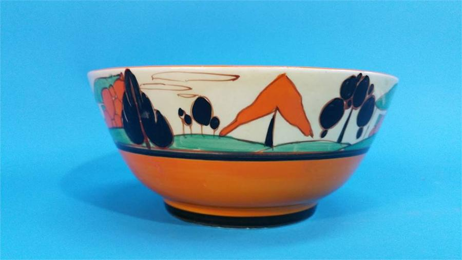 Lot 10 - A Clarice Cliff 'Fantasque' Tree and Houses patter