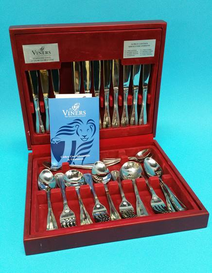 Lot 18 - A Viners canteen of cutlery.