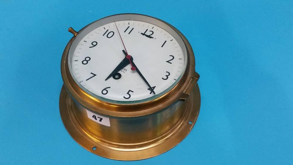 Lot 47 - A Smith Astral Ship's clock.
