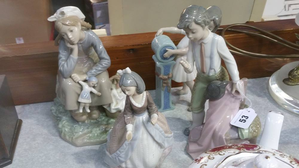 Lot 53 - Four Lladro figures