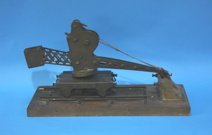 Lot 42 - A scratch built model railway crane