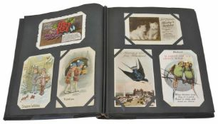 A postcard collection comprising predominantly childhood greeting cards and postcards Condition: All