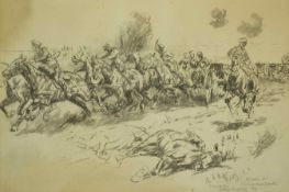 William Barns Wollen (British 1857 - 1936) 'Retrieving the guns' Battle of Le Cateau Aug 26th 1917,