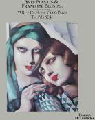 Three framed exhibition and show posters Tamara de Lempicka Yves Plantin & Francoise Blondel; Kabuki