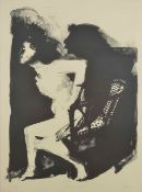 Bill Jacklin RA (born 1943) British Woman in a Chair, a black and white print, signed and dated '