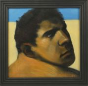 Ray Richardson (born 1964) British Number One for Art, acrylic portrait of a man, signed and