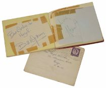 Rolling Stones autographs Signed in an autograph book including Brian Jones, Charlie Watts, Bill