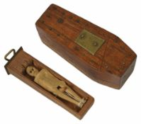 A 1930s novelty coffin puzzle length 5.5cmCondition: