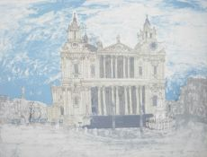 Colin Spencer St. Paul's Cathedral, lithograph, c. 1967, framed and glazed. 51 x 67 cm. Condition: