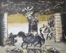 Ian Howard (born 1952) Scottish, Summa Theologiae, c. 1987, an abstract print, signed and