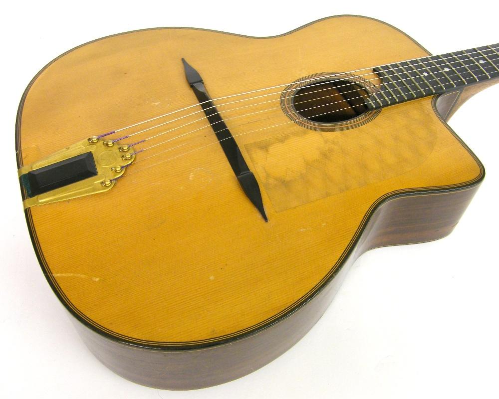 1933 Selmer Orchestra model Maccaferri oval sound hole guitar, no. 269 - Image 4 of 22