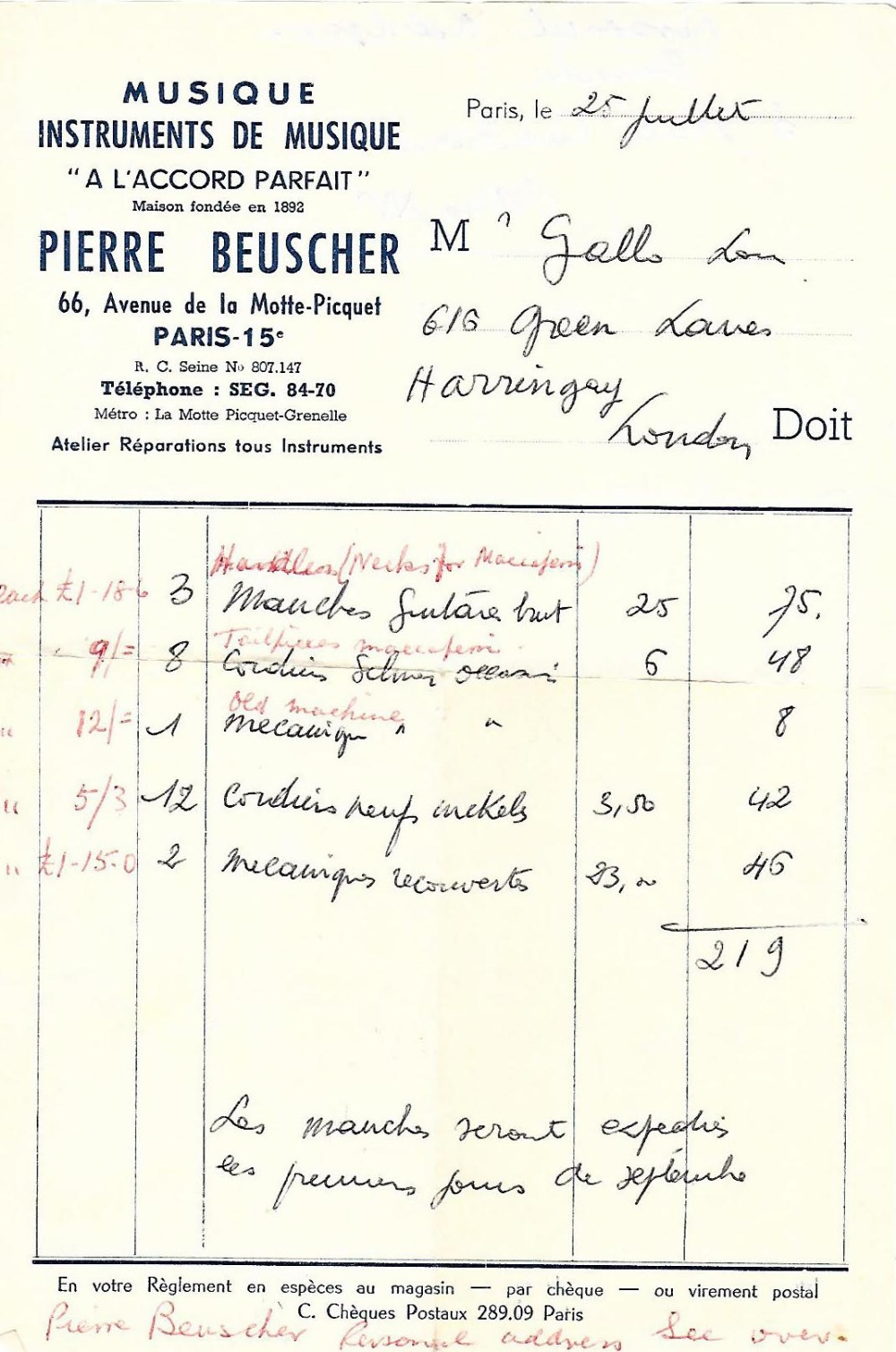 1933 Selmer Orchestra model Maccaferri oval sound hole guitar, no. 269 - Image 18 of 22
