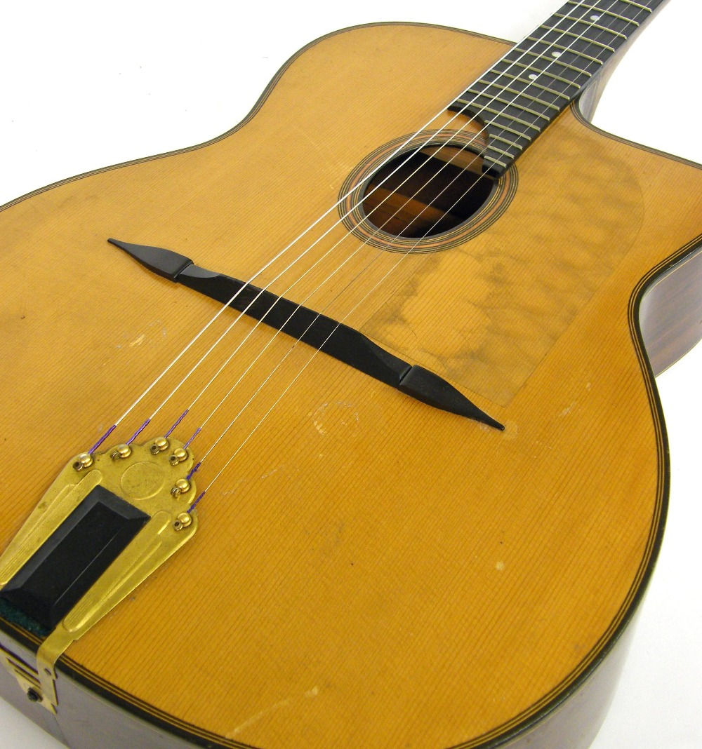 1933 Selmer Orchestra model Maccaferri oval sound hole guitar, no. 269 - Image 15 of 22
