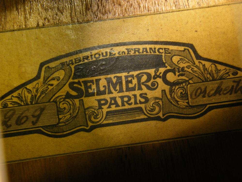 1933 Selmer Orchestra model Maccaferri oval sound hole guitar, no. 269 - Image 6 of 22