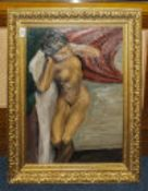 Early 20thC Oil On Board Depicting A Rec