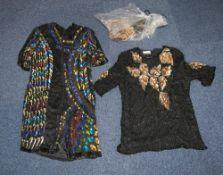 Two Ladies Designer Beaded Black Evening
