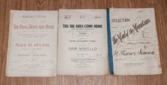 Four Pieces Of Sheet Music, one titled '