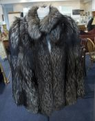 Ladies Fox Fur Jacket, fully lined with