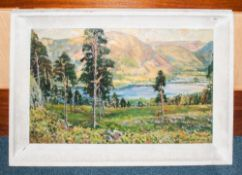 Early 20thC Large Oil On Board Depicting