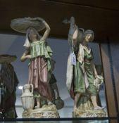 Royal Dux Fine Pair of Porcelain Hand Pa