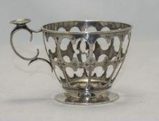Russian Silver Tea Glass Holder, Looks T