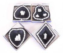 Wedgwood Black Jasperware Card Suite Rou